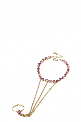 FFOMO Crystal Chain Bracelet and Ring