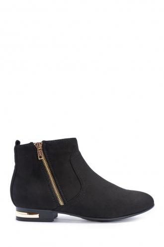 FFOMO Cynthia Black Faux Suede Ankle Boots