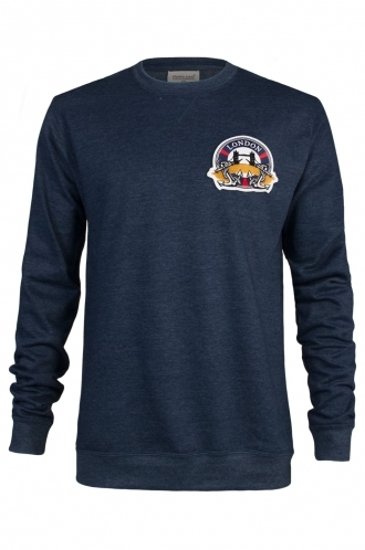 FFOMO Dan London Embroidered Patch Navy Sweatshirt
