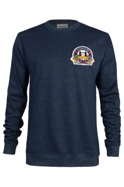 Dan London Embroidered Patch Navy Sweatshirt