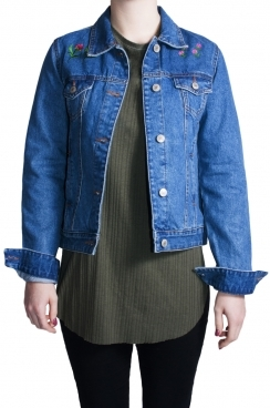 Dayana Trucker Exclusive Embroidery Denim Jacket