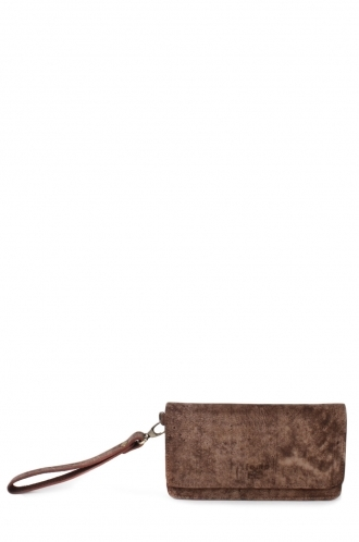 FFOMO Dusty Brown Real Camel Leather Unisex Wallet