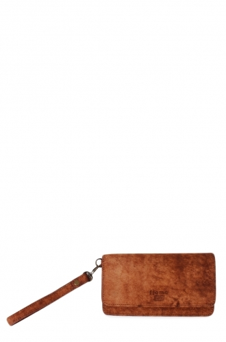 FFOMO Dusty Tan Real Camel Leather Unisex Wallet