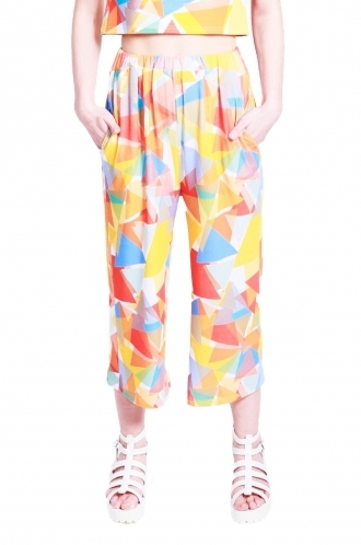 FFOMO Eden triangle printed 3/4 trousers