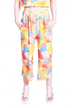 Eden triangle printed 3/4 trousers