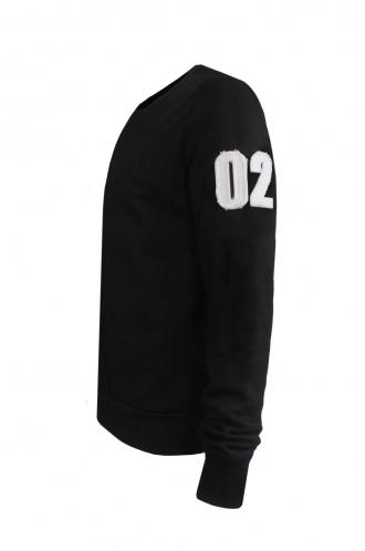 FFOMO Edgar 02 Applique Arm Patch Black Sweatshirt