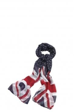 Elizabeth UK flag printed scarf