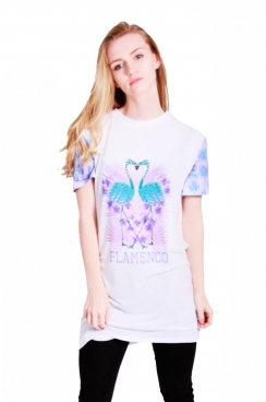 Ellie t-shirt dress with Flamingo print