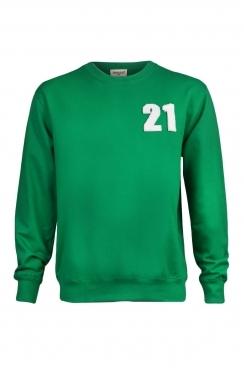 Ethan 21 Applique Patch Green Sweatshirt