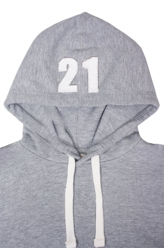 FFOMO Frankie 21 Applique Hood Patch Pullover Hoodie