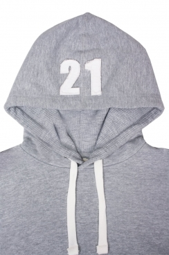 Frankie 21 Applique Hood Patch Pullover Hoodie