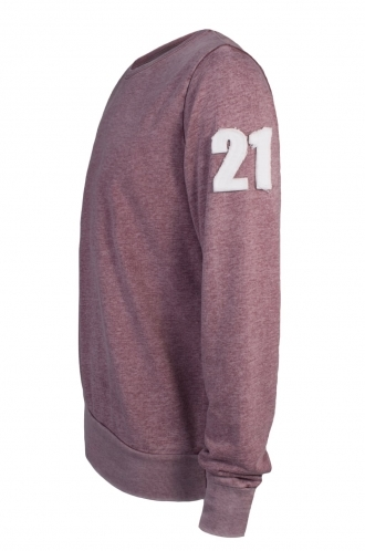 FFOMO Fred 21 Applique Arm Patch Faded Burgundy Sweatshirt