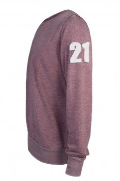 Fred 21 Applique Arm Patch Faded Burgundy Sweatshirt