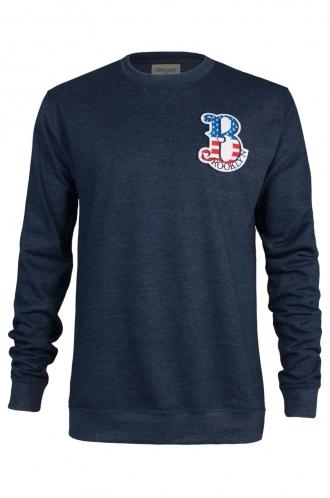 FFOMO Gary Brooklyn Embroidered Patch Navy Sweatshirt