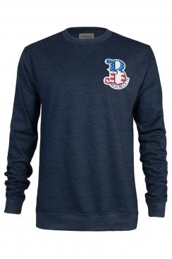 Gary Brooklyn Embroidered Patch Navy Sweatshirt