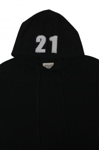 FFOMO George 21 Applique Hood Patch Black Hoodie