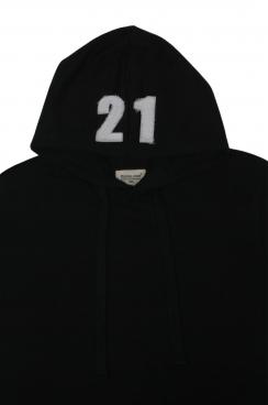 George 21 Applique Hood Patch Black Hoodie