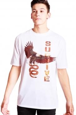 George Eagle Print Classic Fit T-shirt