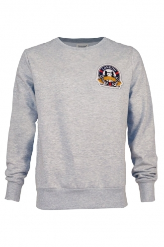 FFOMO George London Embroidered Patch Grey Sweatshirt
