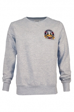 George London Embroidered Patch Grey Sweatshirt
