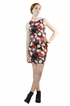 Gina Photographic Floral BodyCon Dress