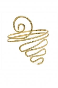 Gold spiral arm cuff