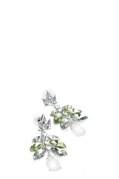 Green Tone Acrylic Bead Earring
