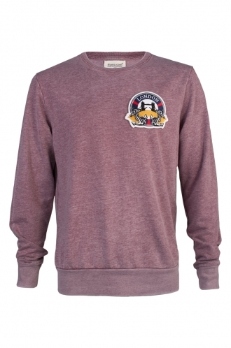 FFOMO Greg London Embroidered Patch Faded Burgundy Sweatshirt