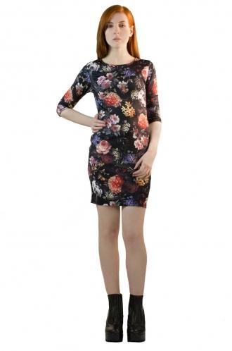 FFOMO Harriet Romantic Floral BodyCon Dress