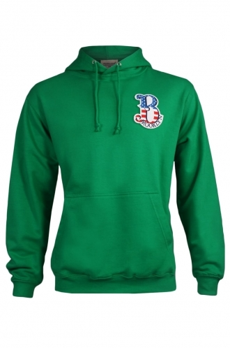 FFOMO Harrison Brooklyn Embroidered Patch Pulllover Green Hoodie