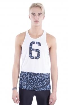 Harvey 6 Crossover Print Stringer Vest