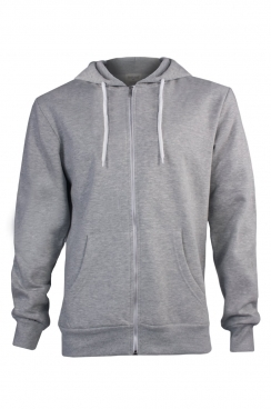 Henry Simple Grey Metal Zipped Hoodie