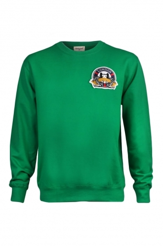 FFOMO Hugh London Embroidered Patch Green Sweatshirt