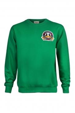 Hugh London Embroidered Patch Green Sweatshirt