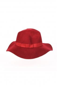 Iona Fedora hat with ribbon trim.