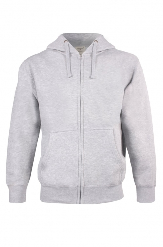 FFOMO Jacob Simple Grey Zipped Hoodie