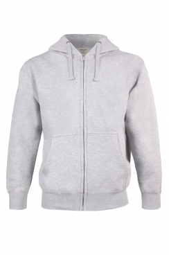 Jacob Simple Grey Zipped Hoodie