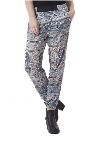 FFOMO Janice Green Paisley Pattern Print Trousers