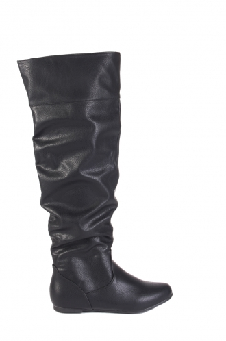 FFOMO Jennet black faux PU knee high boots
