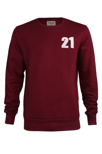 FFOMO Jesse 21 Applique Patch Burgundy Sweatshirt