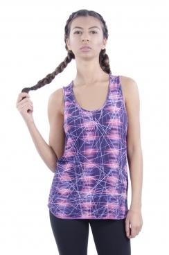 Jessica Artist Print Sporty Vest