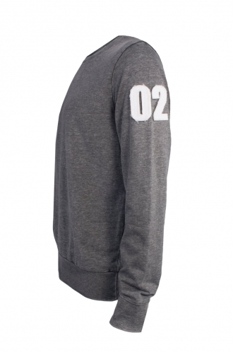 FFOMO Joe 02 Applique Arm Patch Dark Grey Sweatshirt
