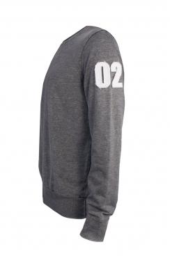 Joe 02 Applique Arm Patch Dark Grey Sweatshirt