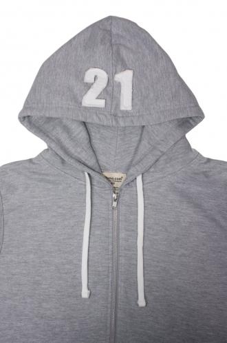 FFOMO Joe 21 Applique Hood Patch Sleeveless Metal Zipped Hoodie