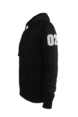 FFOMO John 02 Applique Arm Patch Black Hoodie