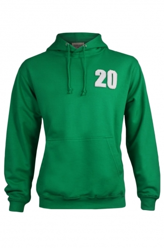 FFOMO Jon 20 Applique Patch Pullover Green Hoodie