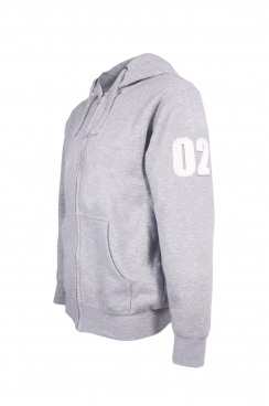 Josh 02 Applique Arm Patch Zipped Hoodie
