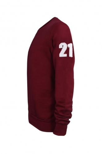 FFOMO Jude 21 Applique Patch Burgundy Sweatshirt