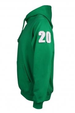Kane 20 Applique Arm Patch Green Pullover Hoodie
