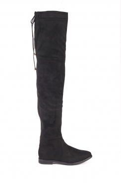 Kara Lace up faux suede over the knee boots
